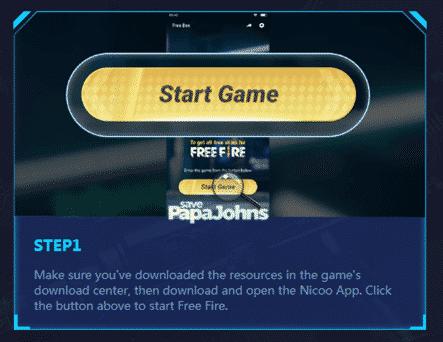 Ada-opsi-menu-Start-yang-langsung-bisa-Anda-klik-untuk-masuk-ke-game-Garena-Free-Fire