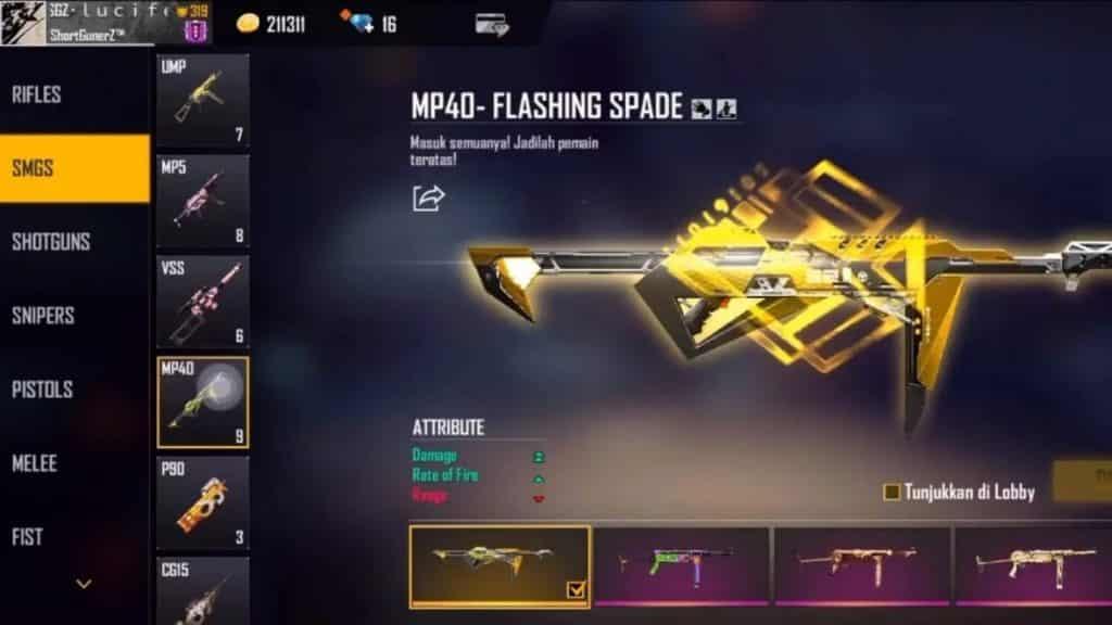 MP40-Flasing-Spade-Skin