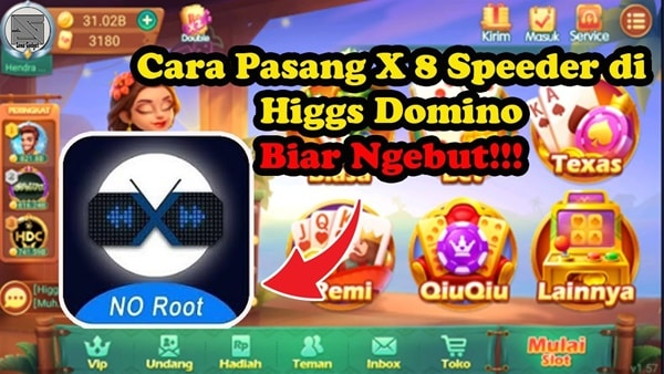 Cara-Setting-X8-speeder-Higgs-Domino